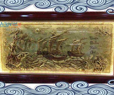 Tranh đồng Thuận buồm xuôi gió hàng xướt MNV-DDLA02