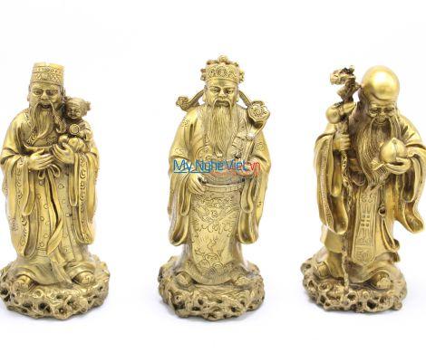 Bộ ba đa Phúc Lộc Thọ đồng MNV-DD35
