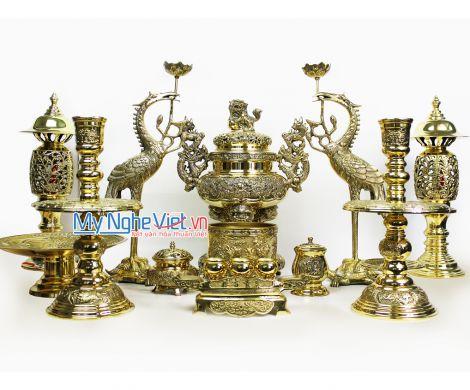 Bộ thờ cúng bằng đồng MNV-DD149
