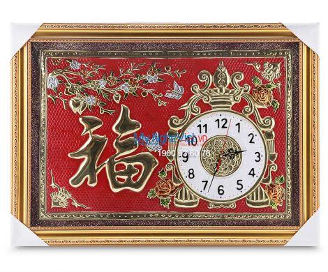 Tranh đồng chữ Thư pháp - Đồng hồ MNV-DD02