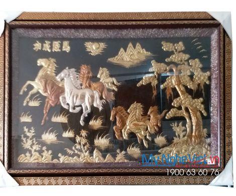 Tranh đồng Mã Đáo Thành Công Nền Đen  MNV-DD11/2