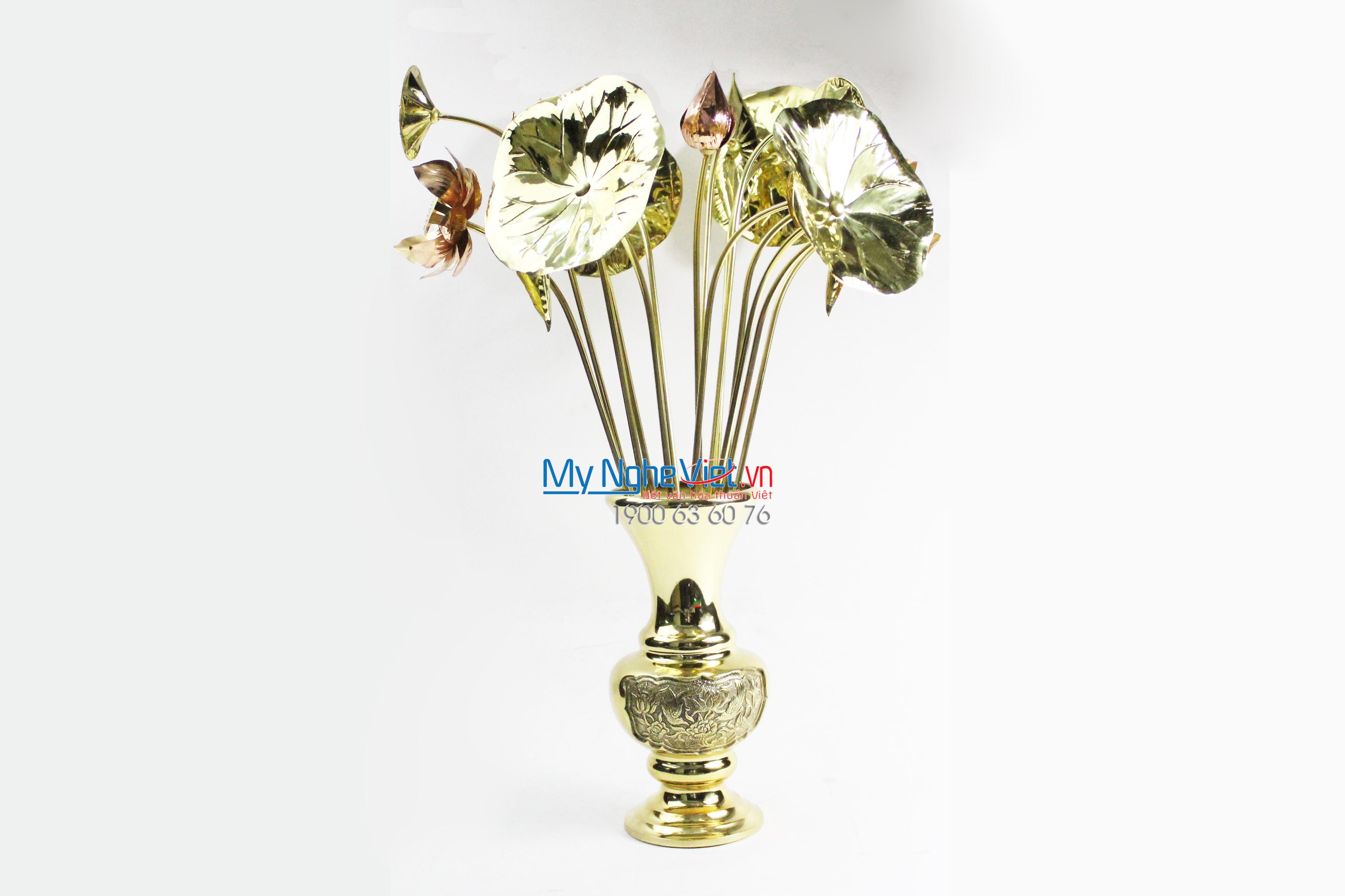 Bình Hoa Thờ Cúng Đồng MNV-DD33/30-1