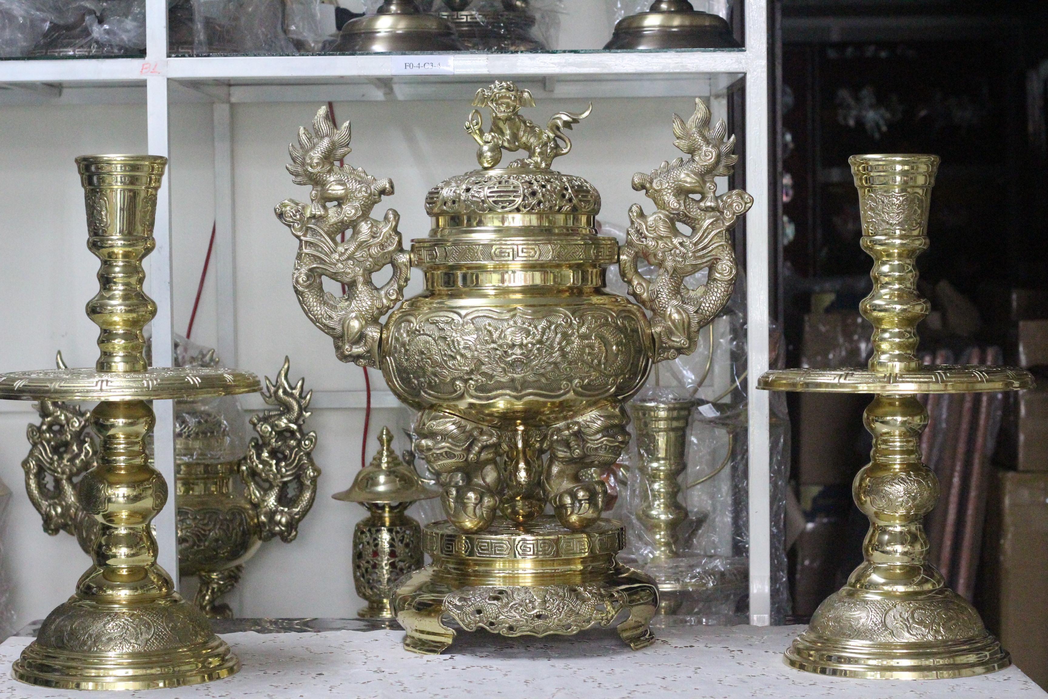 Bộ Tam Sự Đồng Vàng Đại Bái MNV-DD18/35