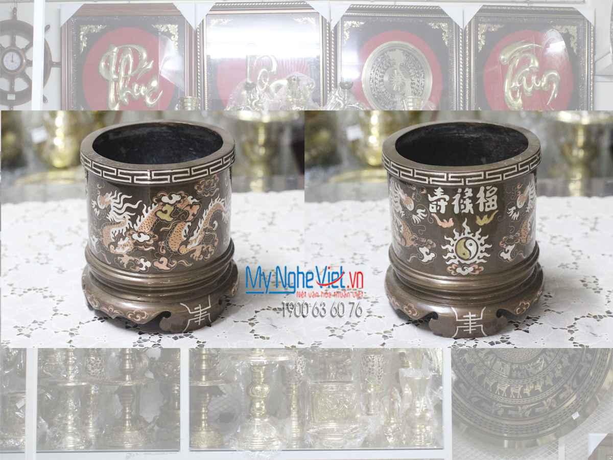Bộ thờ cúng đồng khảm tam khí 11 món MNV-DD17/H50