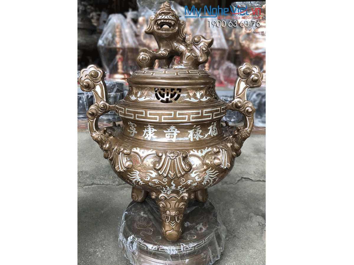 Đỉnh Đồng Khảm Ngũ Sắc MNV- DD01