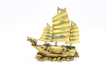 Thuyền buồm bằng đồng MNV-DD36