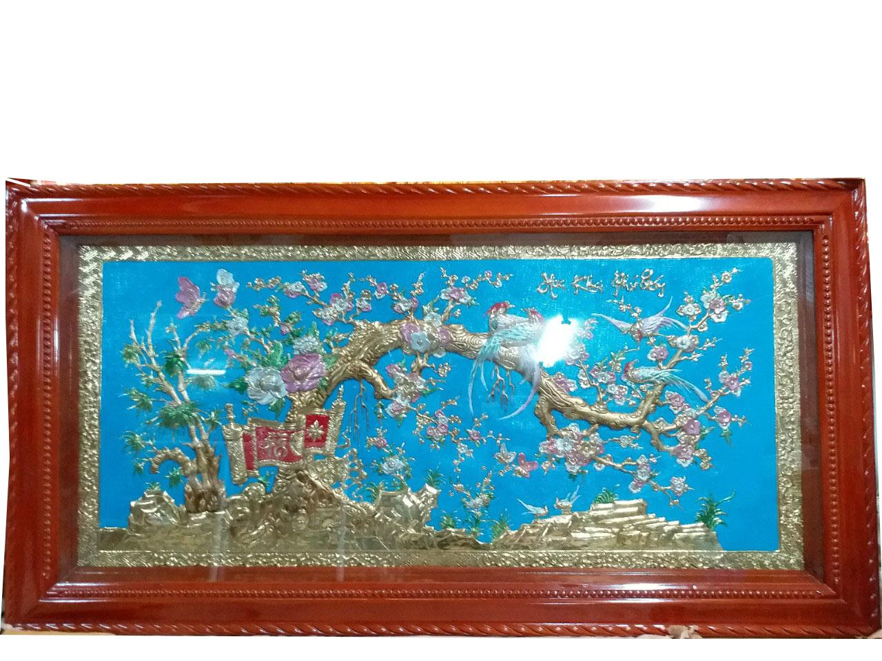 Tranh Đồng Hoa Khai Phú Quý 90x170 MNV-DD46