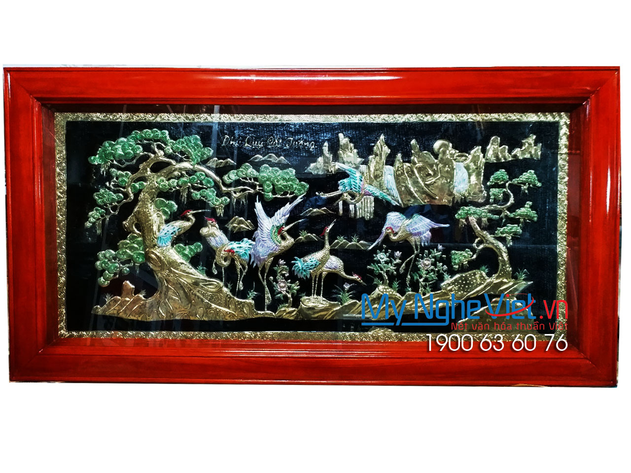 Tranh đồng Phú Quý Cát Tường 90x170 MNV-DD45