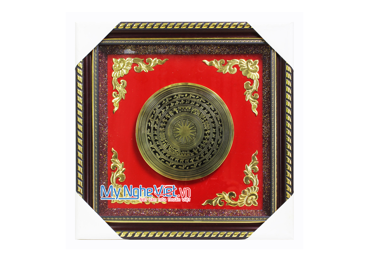 Tranh đồng hoạ tiết Trống Đồng MNV-DD04