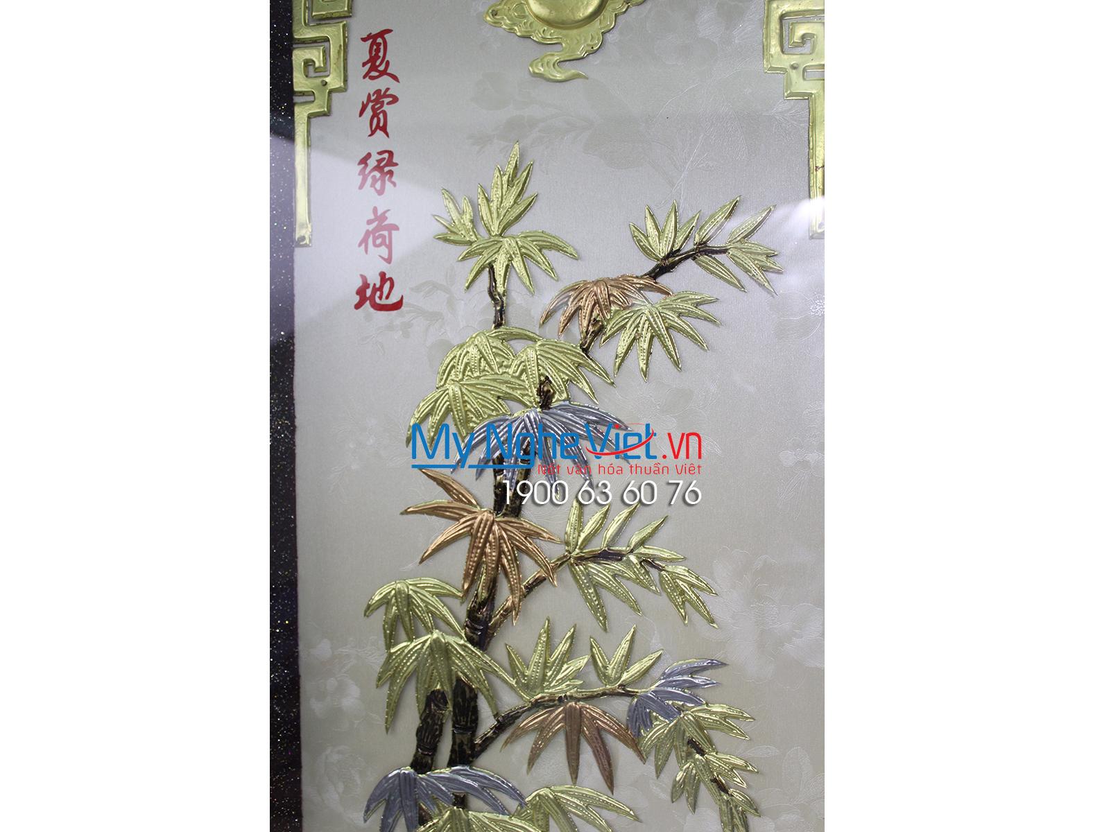 Tranh đồng Tứ Quý MNV-DD15-1