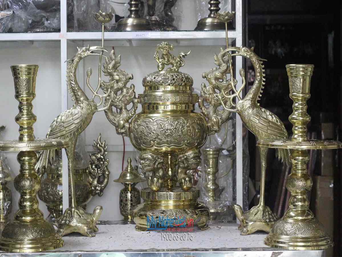 Bộ Tam Sự Đồng Vàng Đại Bái Bắc Ninh  MNV-DD18/65