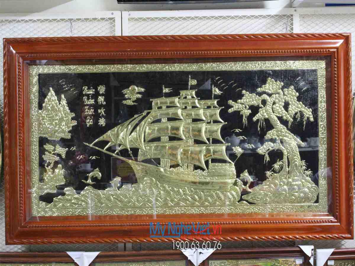 Tranh Đồng Thuận Buồm Xuôi Gió MNV-DDLA11